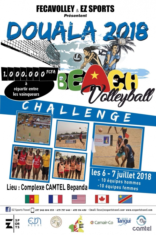 Beach volley challenge 2018 : le logo officiel dévoilé